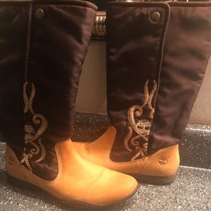 Timberland Genuine Leather (Suede) & Fabric Boots